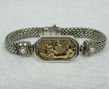 14K Tagliamonte Gold Cameo Sterling Silver Pearl Bracelet