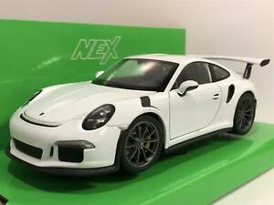 Porsche 911 GT3 RS 2016 White 1:24/7 Scale Welly 24080W