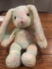 Fiesta Plush pastel tie dye bunny rabbit stuffed animal rainbow ribbon bow Plush