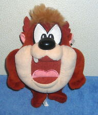 "WARNER BROTHERS LOONEY TUNES BABY TAZ TASMANIAN DEVIL 7"" PLUSH BEAN BAG TOY"