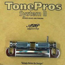 TonePros T1Z-C Cordier Standard Stop Tailpiece Lockable style Gibson Metric Chr