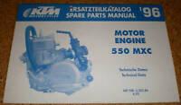 Ersatzteilkatalog / Teile-Liste KTM Motor / Engine 550 MXC - ab 1995
