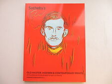 Old Master, Modern & Contemporary Prints. Sotheby's  London. 19 September  2012