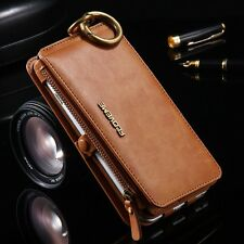 Luxury Genuine Leather Flip Wallet Phone Case Cover for iPhone X 10 8 7 6S 5S SE