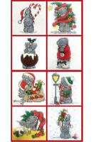 DMC TATTY TEDDY ME TO YOU BEAR MINI CHRISTMAS CROSS STITCH KITS 8 DESIGNS