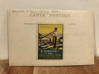 Stamped 1925 Munster Exposition Pavillion Des Beaux Arts Rhine Germany RPPC