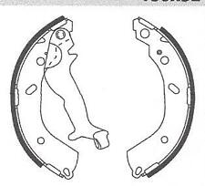Rear Brake Shoes: Fits Hyundai Getz With 180x32mm Drums, New Rear Brake Shoes