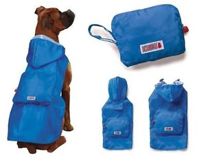 KONG STOWAWAY RAIN DOG JACKET RAINCOAT COMPACT POUCH BLUE  Size: Misc