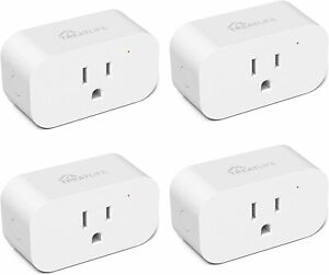 4-PACK Treatlife Smart WiFi Outlet Works with Alexa and Google Home, 2.4GHz WiFi