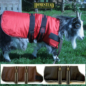 Waterproof GOAT COAT - Black, Red or Brown - Includes Girth Extension Strap