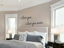 I LOVE YOU I LOVE YOU MORE Vinyl Wall Art Decal Words Lettering Decor Home