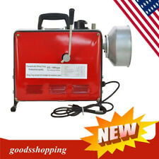 66 Ft Electric Power Machine Auger Cable Drain Clog Cleaner Snake Pipe Sewer