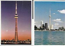 2 UNPOSTED POSTCARDS TORONTO ONTARIO CANADA SKYLINE SKYSCRAPERS Postcard