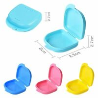 Dental Orthodontic Retainer Denture Storage Case Box Mouth Guard Container Teeth