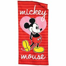 "Towel Bath Beach Pool Cotton 28""x58"" Disney Mickey Age 3+ NEW"