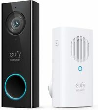 Eufy Security Anker, Wi-Fi Video Doorbell with 2K HD, 2-Way Audio Wired + Chime