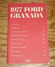 Original 1977 Ford Granada Owners Operators Manual 77