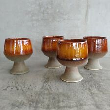 Mid Century Diana Pottery Safari Goblets 200mls NSW Australian 1960s Vintage