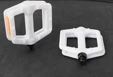 Lightweight X-Rated BMX Kids Bike Flat Platform 1/2 Axle DX Studded Pedals White