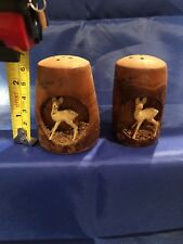 Vintage and Unique Niagra Falls Canada - Wooden Salt and Pepper Shakers