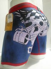 Ed Hardy Men's Red Skull-Motorcycle Print Boxer Briefs Size Large New