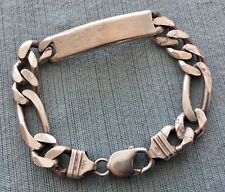 "Vtg 925 Sterling Silver 41.5gr ID Bracelet 8"" Made in Italy"