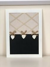 The Range White Beige Heart Shabby Chic Farmhouse Wall Notice Chalkboard