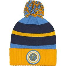 Denver Nuggets Mitchell and Ness Cuffed Pom Knit Beanie Hat Quilted Crown
