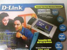 D-Link DWL-650 Wireless PCMCIA Adapter 802.11b  - New/Sealed