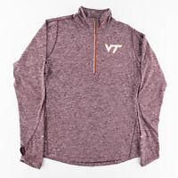 Nike Dri-Fit Womens Medium Virginia Tech Hokies Long Sleeve 1/4 Zip Pullover