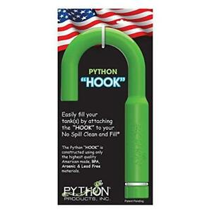 Python Hands-Free and Spill Free Aquarium Hook, Green, 10.25 x 1.50 x 5.50