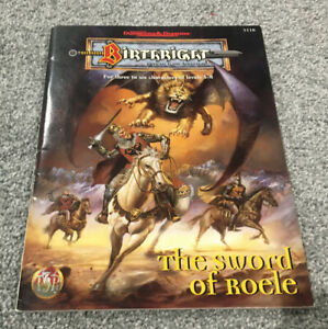 TSR AD&D Birthright Sword Of Roele Adventure Module, Dungeons And Dragons