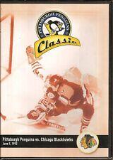 PITTSBURGH PENGUINS CLASSIC-DVD-NEW-PENGUINS VS. CHICAGO BLACKHAWKS-JUNE 1, 1992