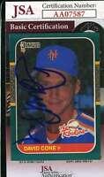 DAVID CONE 1987 Donruss JSA Coa Autograph Authentic Hand Signed