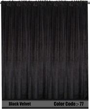 Saaria Velvet Curtain Panel Home Theater Stage Curtain Drape 13'W x 10'H Black77