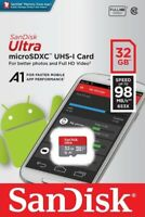 SanDisk® Ultra 32GB microSDHC™ UHS-I SD Card Speed up to 98MB/s C10 U1 A1 New