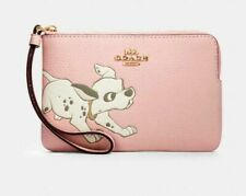 Coach Disney Wristlet Dalmatian Puppy Dog Limited Edition Bag Pink NWT