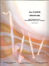 Mélonade pour clarinette en si b ou saxophone ténor en si b et piano