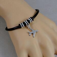Airplane Bracelet - Jet Plane Charm Bracelet - Aviation Flying Jewelry