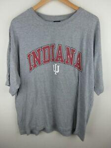 Vintage Starter Indiana Hoosiers Mens T Shirt Size XL 90s Crew Tee Grey