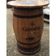 In rovere massello riciclato Whisky Barrel GUINNESS con Logo PUB TAVOLO CON Round Top
