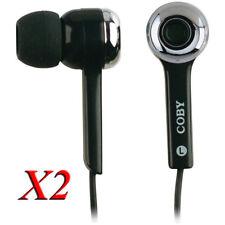 2X Coby CV-E31BK MP3 Super Bass auriculares estéreo digitales CVE31 Negro