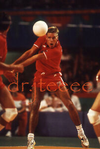 1984 OLYMPICS Karch Kiraly - 35mm Volleyball Slide