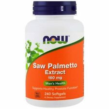 NOW Foods, Saw Palmetto Extracto, 160mg X 240 Cápsulas - Hombre Salud, Próstata