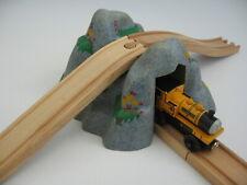 Spring Mountain Tunnel / Bridge For Wooden Train Track Set ( Brio Thomas )