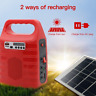 Home Outdoor Power Storage Solar Panel Generator LED USB Charger Lighting System