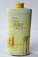 Vintage Avon TOPAZE Perfumed Talc 2.75 oz TIN / NEW IN BOX