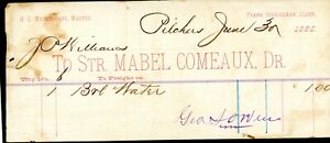 """STEAMBOAT FREIGHT BILL""""Mabel Comeaux"""""""