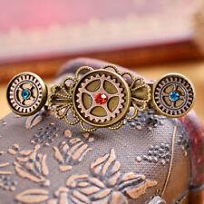 Fashion Women Vintage Steampunk Alloy Gear Hair Pin Clip Retro Barrette Spring