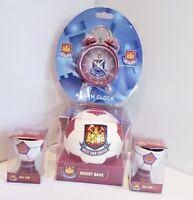 West Ham Utd Football Money Ball,Alarm Clock & Egg Cups Gift Set - Ideal Gift
